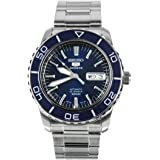 Seiko 5 Sports SNZH53J1 Japan Men's Stainless Steel Blue Dial Automatic Watch