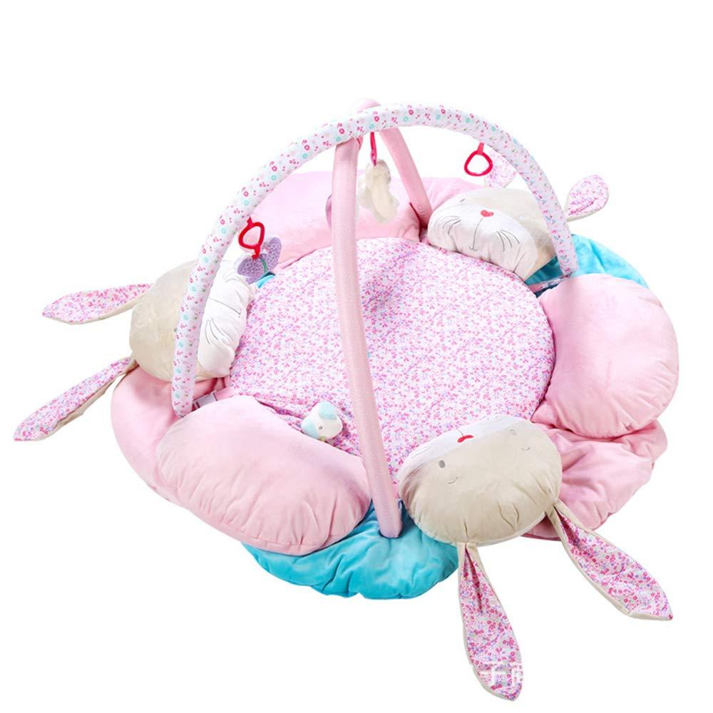 最高 ポータブルベビープレイマット、ウサギラウンドピンク音楽ゲーム毛布フィットネスフレームクロールブランケット赤ちゃんの教育玩具 B07LDTL236、0-1歳の赤ちゃんに適しています B07LDTL236, 若葉亭オンラインショップ:34fcf641 --- svecha37.ru