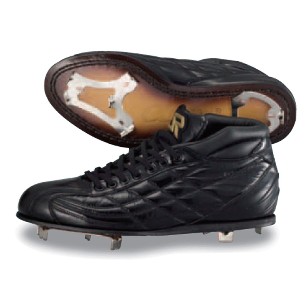 【SURE PLAY】シュアプレイ 革底金具取替え式スパイク ミドルカット αDIMA ブラック sbs-ad331m ブラック 25.0cm B01J5N0JOE