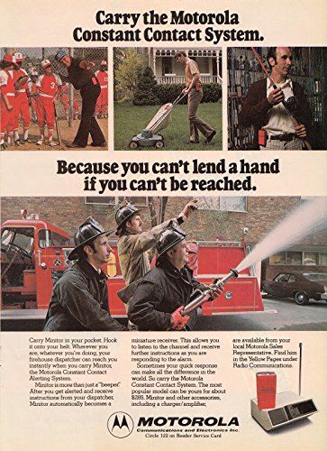 Price comparison product image 1978 MOTOROLA Constant Contact System Fire Department Vintage print ad