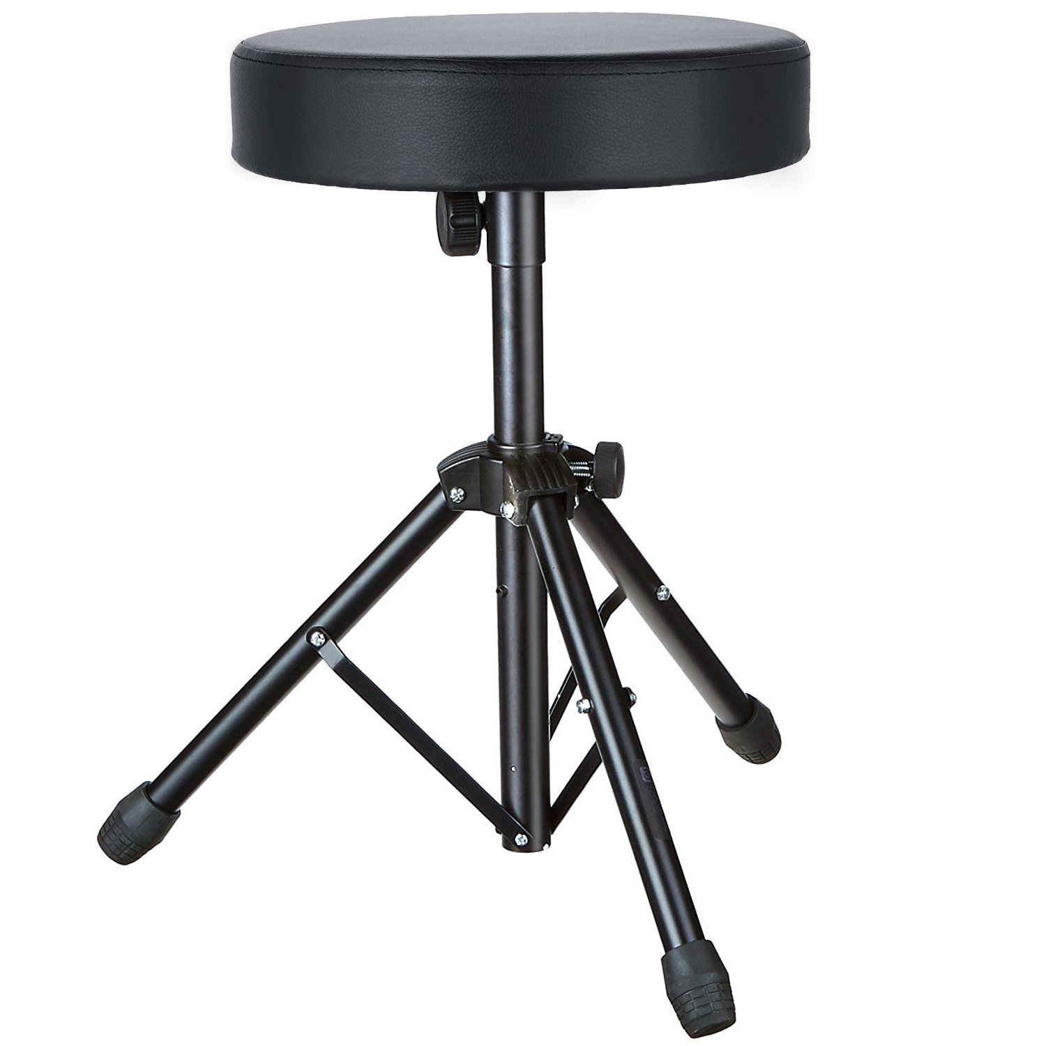 Coocheer Drum Throne Rotatable Metal Drum Seat Professional Drum Stool for Guitars Bass Keyboards Drums Recording DJ Band & Orchestra Live Sound Soft Padded Throne Seat to Kids&Adult (Black)