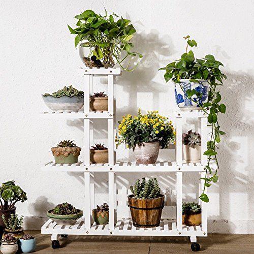 HOMEE Flower Rack Anti-Corrosion Solid Wood Flower Pot Rack Fall on the Ground Multiple Layers Flower Pot Rack Living Room Balcony Flower Racks --Home Environment Decorations,B-2 by HOMEE