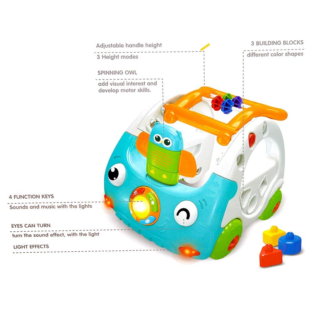 Amazon.com: colorTree bebé actividad Walker Empuje coche con ...