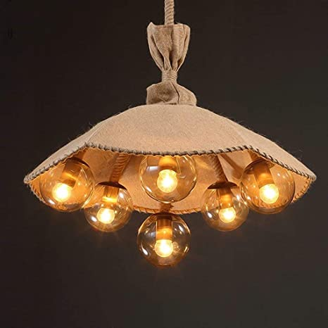 Araña pueblo americano retro creativo Azha paraguas lámparas colgantes Nacon Salón restaurante Cafe lámparas