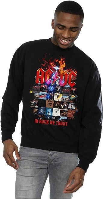 AC/DC Hombre In Rock We Trust Album Cover Camisa De Entrenamiento: Amazon.es: Ropa y accesorios
