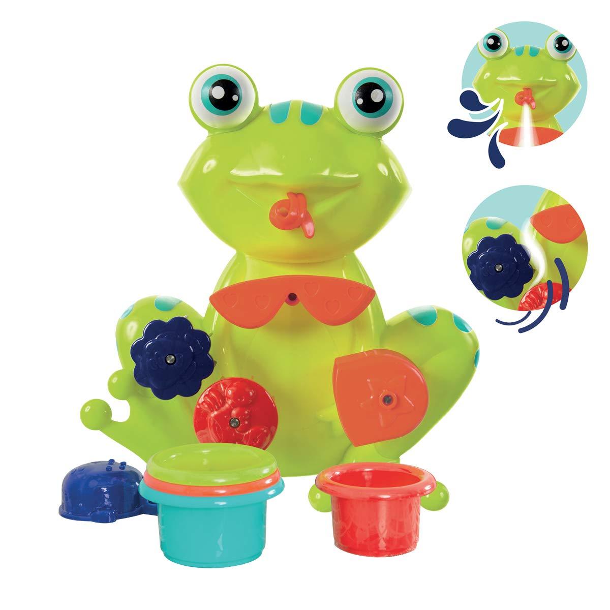 coupelle r/éf D/ès 12 mois Coffret de jeux deau pour le bain : grenouille 2246 moulins verres gigognes perc/és LUDI Fixations ventouses