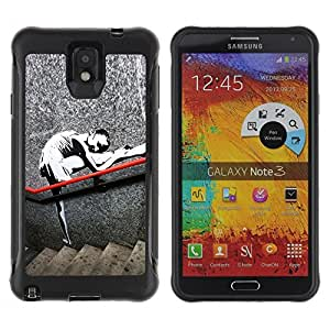 Suave TPU Caso Carcasa de Caucho Funda para Samsung Note 3 / training girl / STRONG