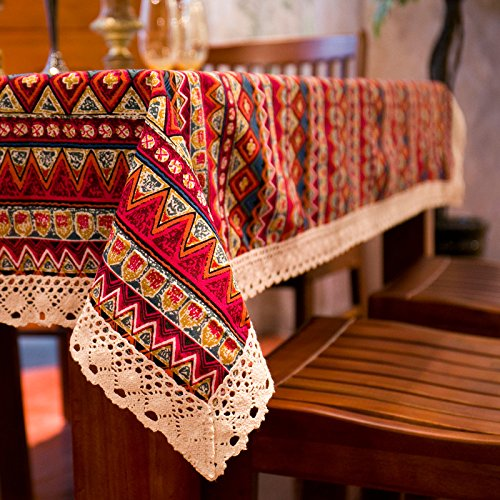 Bohemian Ethnic Style Lace Tablecloth Fabric European