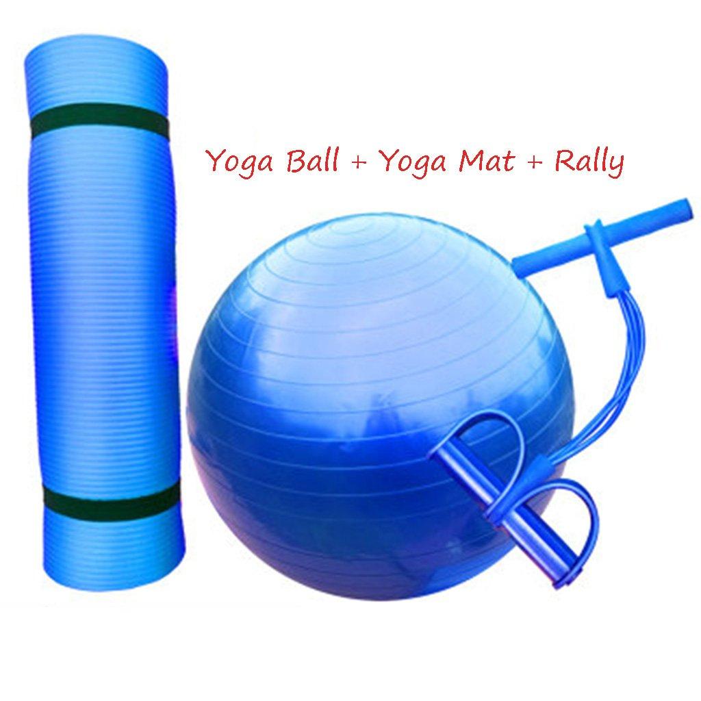 75cm YJQGAP CYJZ® Yoga Ball + Tapis de Yoga + Rallye, Balle de Gymnastique pour Enfants Femmes Enceintes Ballon d'équilibre Ballon de Livraison épaisseur Ballon de Gymnastique antidéflagrant à l'aise