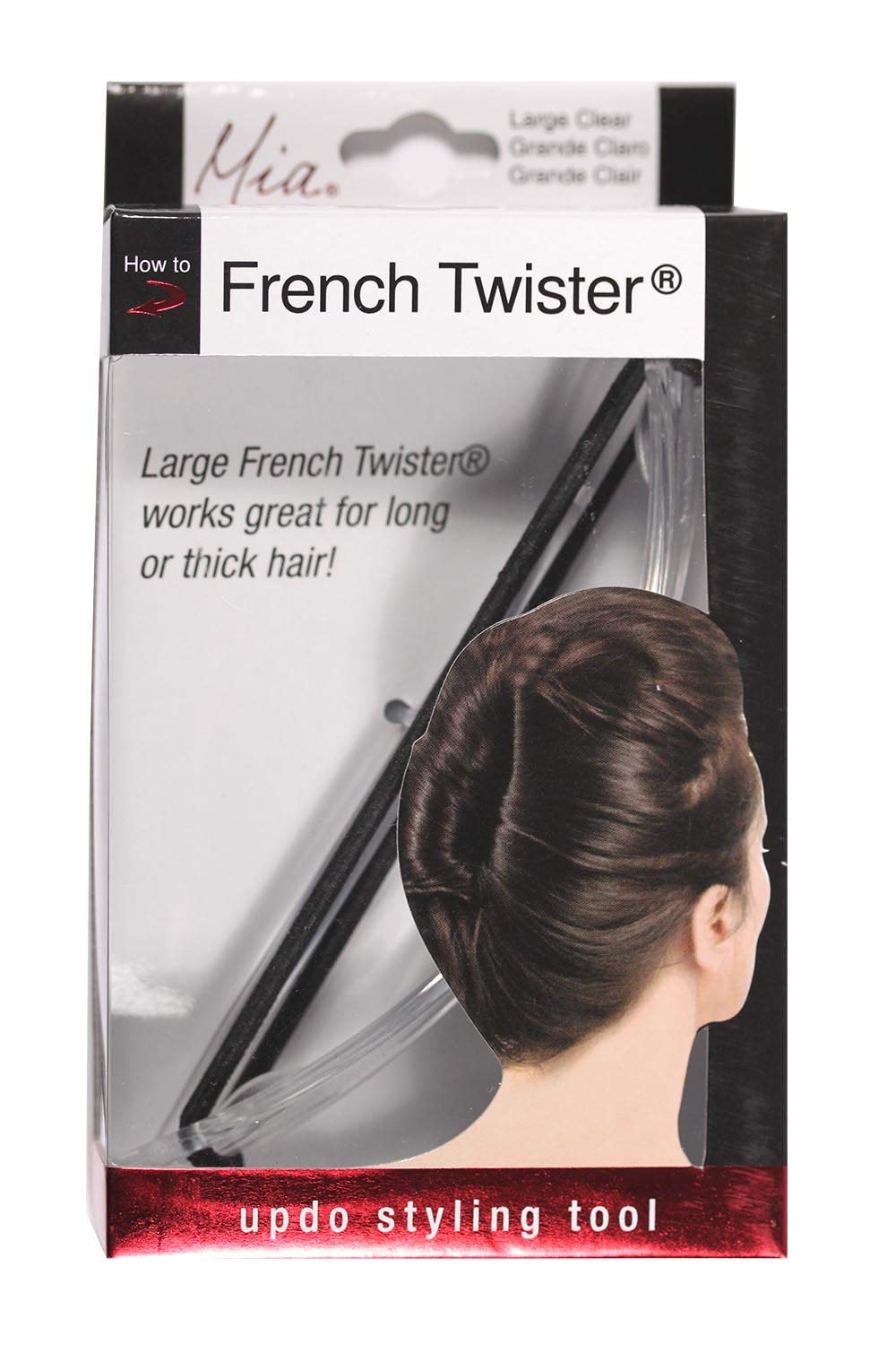 Amazon Com Mia French Twister Updo Styling Tool French Twist Bun Maker Large Size For Long And Or Thick Hair Clear Color For Women Brides Dress Up French Twist