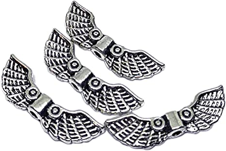 Tibetan Antique Silver Angel Wings Spacer Beads Choose Design Jewellery Making
