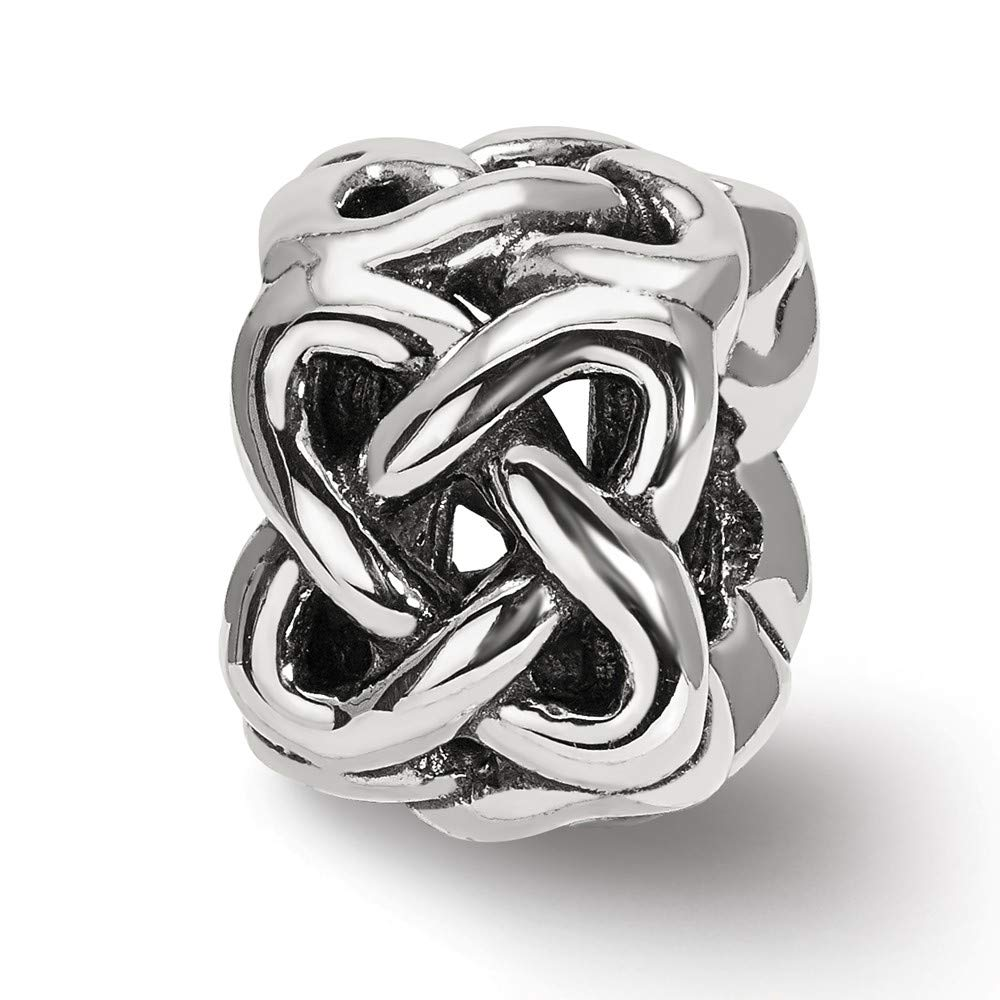 FB Jewels Solid 925 Sterling Silver Reflections Celtic Knot Bead