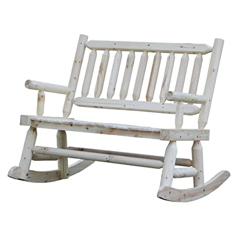 Wooden Rocking Chair With Natural Material Comfortable Oversized Patio  Furniture, Double VIVA16027