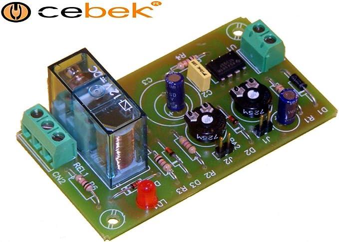 Cebek Temporisateur cyclique avec sortie relais de 3 secondes /à 1 minute Alimentation 12/V I-10