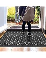 """DEXI Outdoor Doormat,Heavy Duty,Durable Rubber Door Mat,Waterproof, Easy Clean, Low-Profile Mats for Entry, Garage, Patio,35""""x23"""",Black"""
