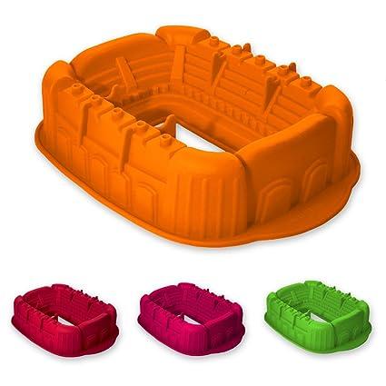 Molde de silicona con forma de estadio de fútbol, apto para hornear pasteles y para