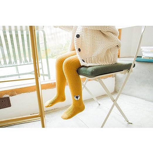 Baby M/ädchen Strumpfhose Herbst Winter Warm Legging mit niedlichem Muster Baumwolle Strumpfhosen f/ür Neugeborenen Kinder M/ädchen Yellow S//1-3 years