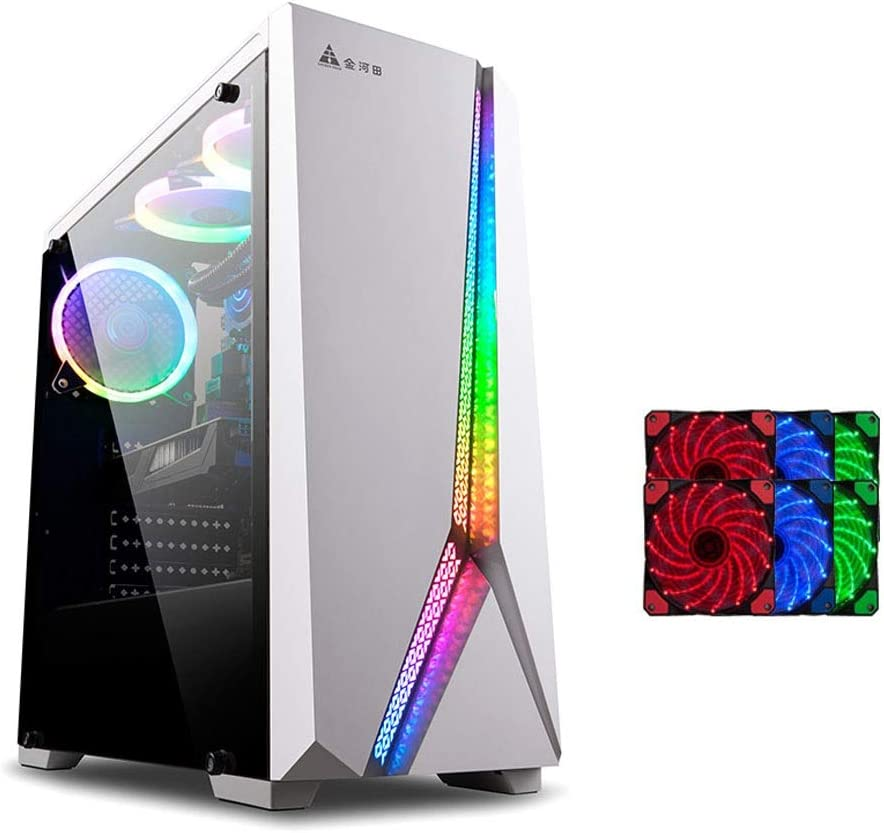 Water-Cooled Desktop Mainframe Color : White, Style : C Game Esports Server Chassis RGB Lighting Full-Sided