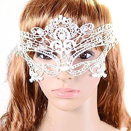 Achievess (TM) Blanca 1pc de alta calidad sexy lady Máscara de ojo de máscara