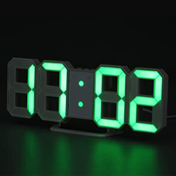 WELQUIC Horloge Murale LED Digital 3D Multifonctionnel,Réveil ...