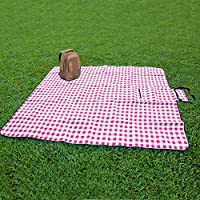 ZhongBan Extra Large Picnic & Outdoor Blanket with Waterproof Backing 80