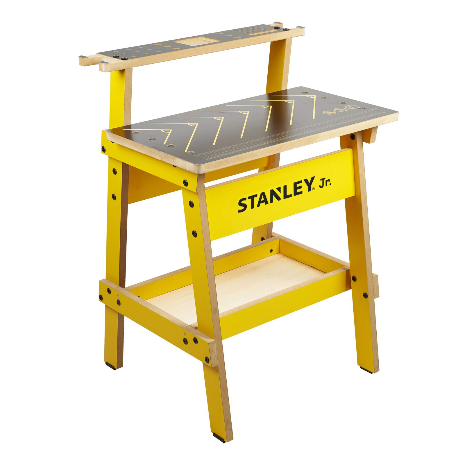 Stanley Jr. Kids Work Bench - Real Wood Craft Kits for Kids - Fun Working Bench for Kids - Kids Workshop Tool Bench - Children's Play Work Bench - Play Construction Sets for Kids