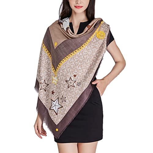 Zhhlaixing estilo de la moda Five-pointed Star Printing Ladies Scarfs Dual Purpose Schals and Wraps ...