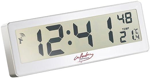 infactory Badezimmeruhr: Kompakte Funkuhr mit riesigem XXL-LCD-Display und Temperatur-Anzeige (LCD Funkwanduhr)