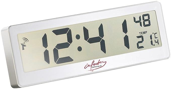 infactory radio reloj compacto con grandes LCD-Display: infactory: Amazon.es: Relojes