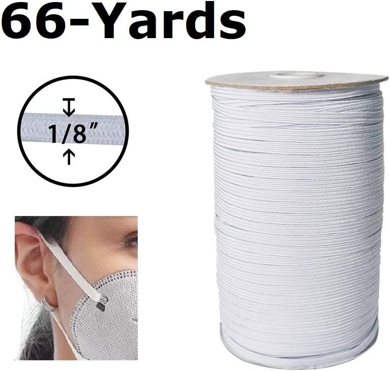 White Elastic Cord 1//4 Width 30-Yards Length Elastic Bands Heavy Stretch Knit Elastic Spool for Sewing DIY Sewing Crafts