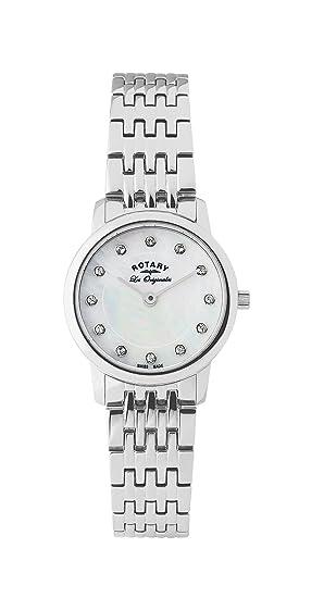 Rotary Les Originales LB90016/07 - Reloj para mujeres, correa de acero inoxidable color