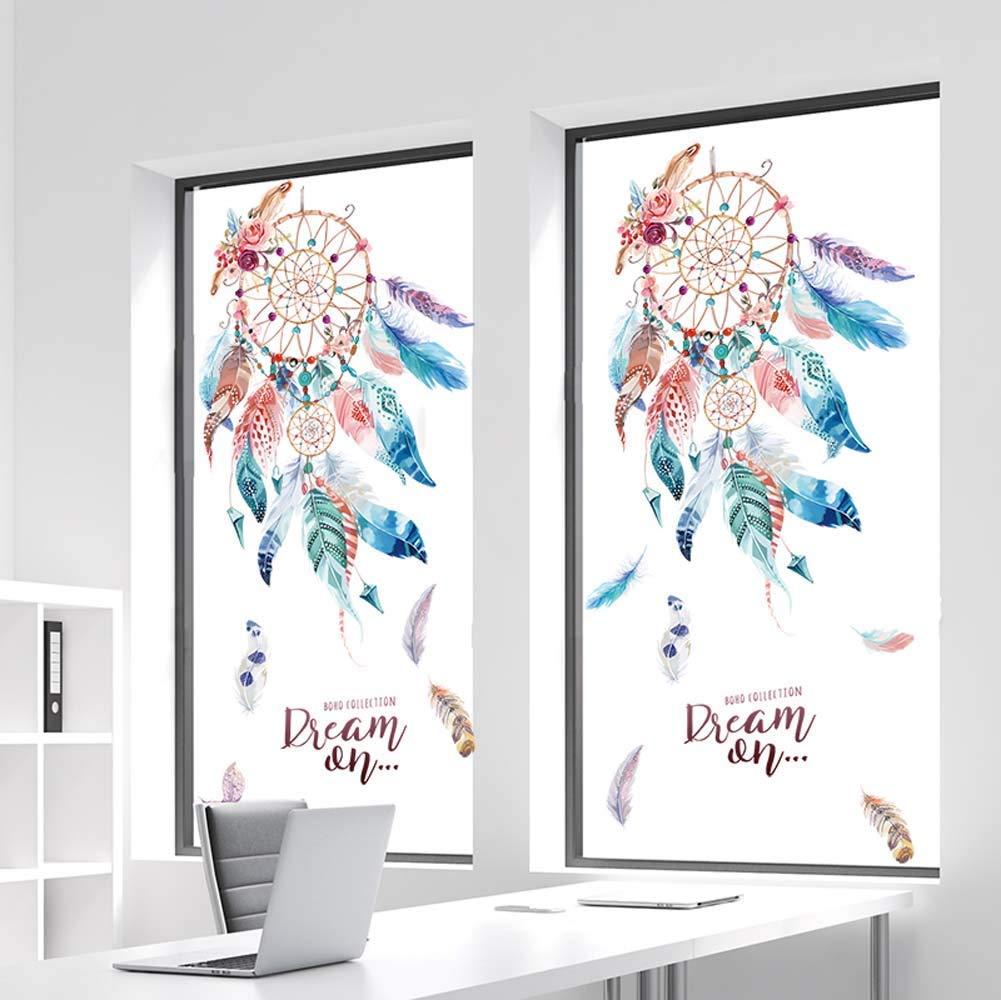 Autocollants Capteur de R/êves Mural Attrape R/êve Plume Sticker Fille Affiches de lauberge D/écoration Masion Salon Chambre boutique 45 60CM