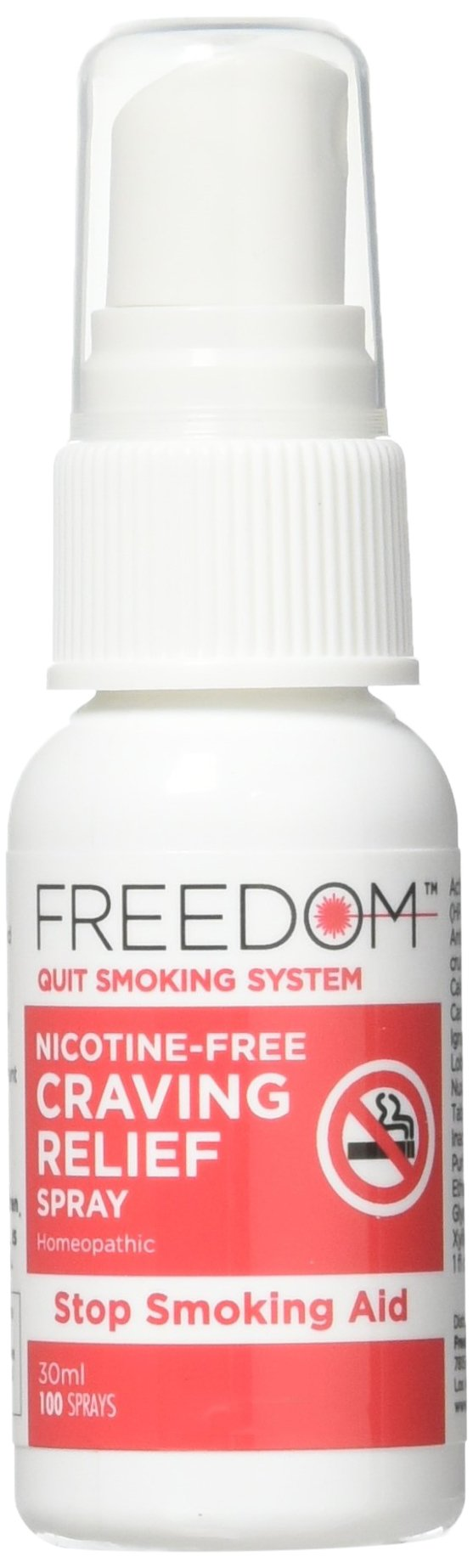 Freedom Quit Smoking, Nicotine Craving Relief Spray – Quit Smoking Naturally Now – Reduce Cigarette Cravings, Fight Nicotine Withdrawal Symptoms, An Easy Way to Quit Smoking Cigarettes Without Side Effects – An All Natural & Nicotine Free Stop Smoking Aid, 1 Oz