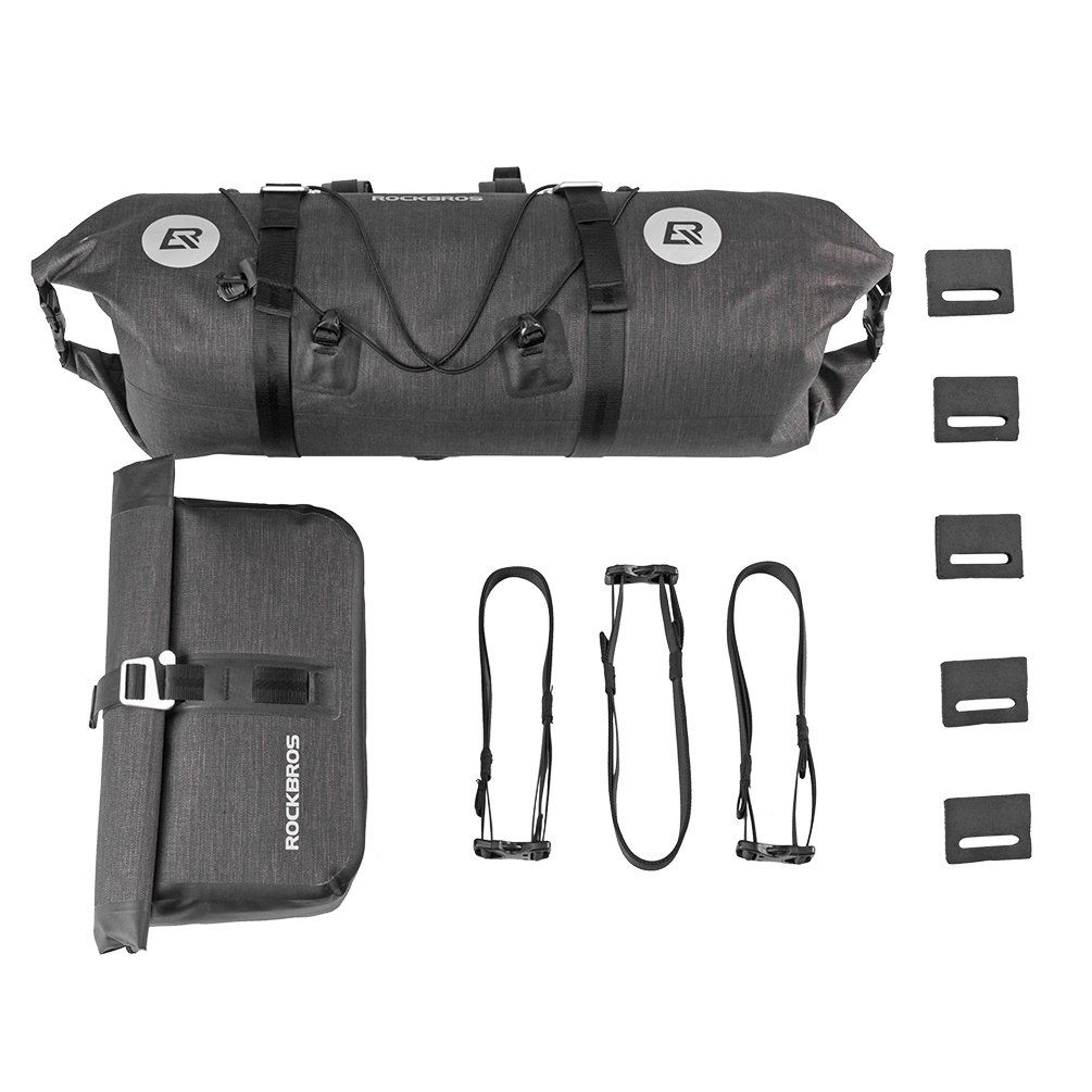 RockBros Bikepacking Bag 100/% Waterproof Bike Bags 2 Intergrated MTB Handlebar Cycling Tube Pouch Panniers Accessories Quick Release Frame Bags 19-20L