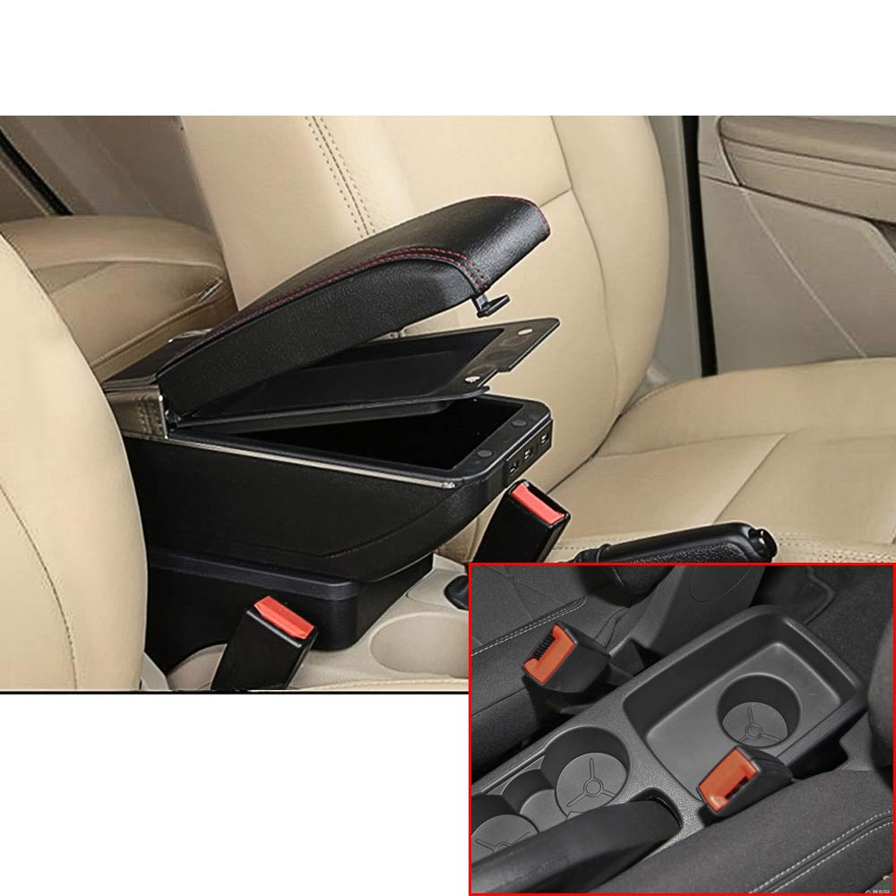 Auto Armlehnen Mittelarmlehne Passt F/ür Fiesta 3 MK7 Verdickte Schwarz Kann sich dehnen und aufrichten