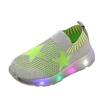 ZARLLE Zapatos Bebe NiñAs Led Ligero Estrella Luminoso Deporte Malla Estudiante Zapatos Casuales Flash Zapatos Zapatillas De Deporte Zapatos De Bebé ...