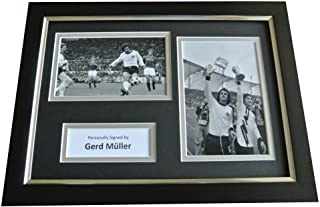 Sportagraphs Gerd Muller Signed A4 FRAMED Photo Autograph Display Germany Football & COA