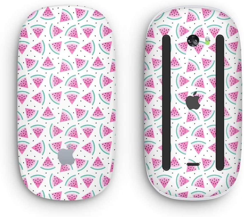 Wireless, Rechargable The All Over Watermelon Slice Pattern Design Skinz Premium Vinyl Decal for The Apple Magic Mouse 2 with Multi-Touch Surface