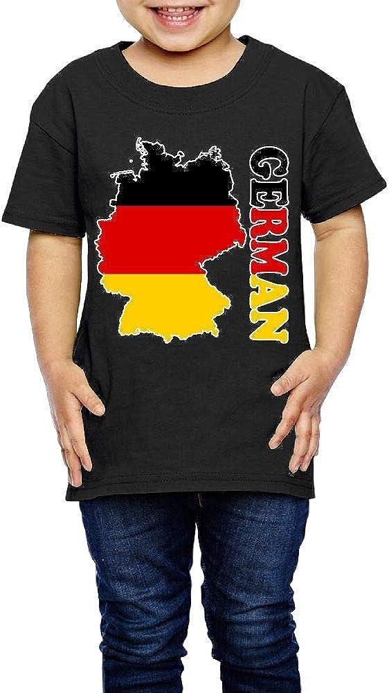 2-6 Years Old Kcloer24 German Flag Map Boys Girls Cute T-Shirt Short Sleeve Tee