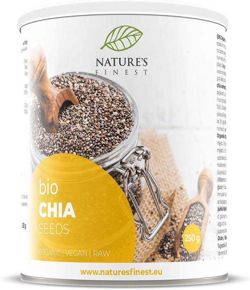 Natures Finest Bio semillas de chia negras 400g