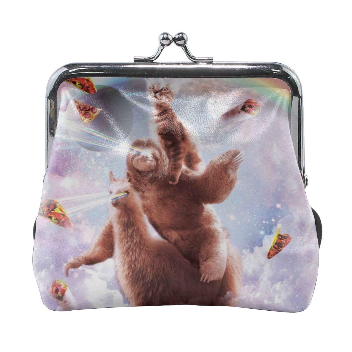 Laser Eyes Cat Sloth Llama Cute Buckle Coin Purses Buckle Buckle Change Purse Wallets
