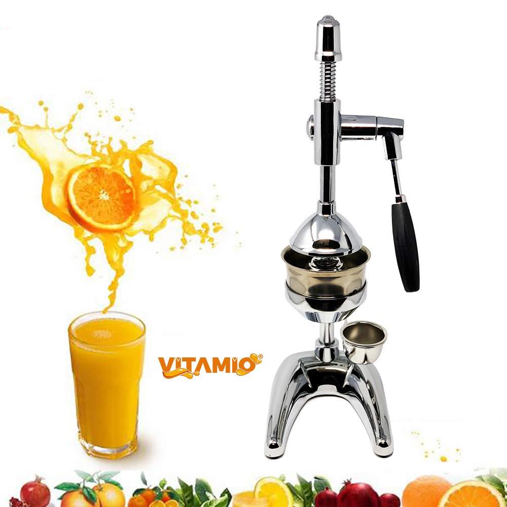 Compra Vitamio Pro XL - Exprimidor de cítricos (Cromado, Ideal para Naranjas, cítricos y Granada) en Amazon.es