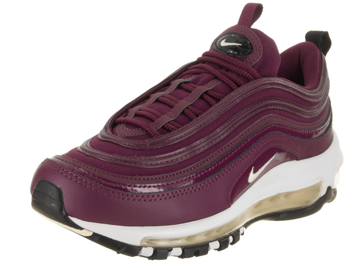 Nike Air Max 97 Premium  Bordeaux  Retro, Schuhe Damen Dunkelrot-weiß-schwarz
