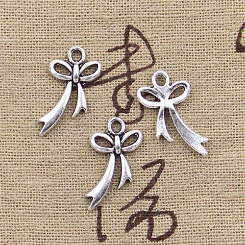 - 50pcs Charms Bow Bowknot 20x11mm Antique Making Vintage Tibetan Silver Zinc Alloy Pendant