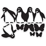 decorsfuk.co Penguins Fridge - Adesivo vinilico per Frigorifero, Misura A4