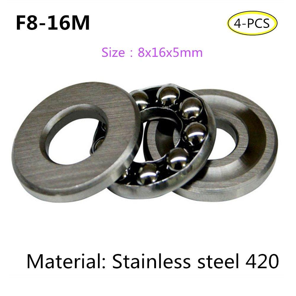 F10-18M 10X18X5.5mm Stainless steel 420 Thrust Ball Bearings, 4-PCS (F10-18M) Stillshine