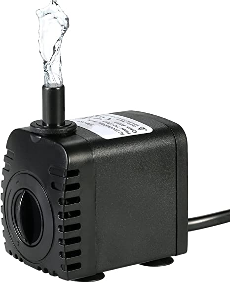 Acuario Enchufe de la UE SODIAL 600LPH Bomba Sumergible 10W Bomba de Agua Ultra Silenciosa Bomba de Fuente Ajustable para Pecera