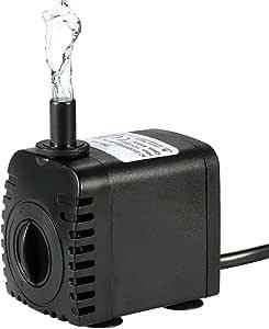 Bomba de Agua Sumergible,Decdeal 600L/H 8W Water Strider - con 2 Boquillas AC220-240V para Acuario Fuentes Estanque Sistemas Hidropónicos: Amazon.es: Bricolaje y herramientas