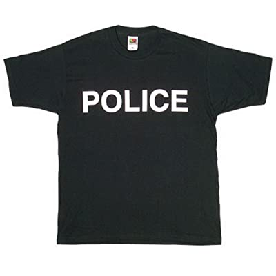 .com : Fox Outdoor Products Police White Imprint Two-Sided Imprinted T-Shirt : Sports & Outdoors