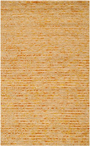 Safavieh Bohemian Collection BOH525D Hand-Knotted Gold and Multi Jute Area Rug (2' x - Collection Gold